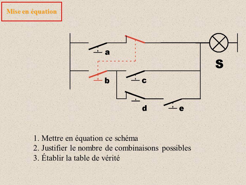 1. Mettre en équation ce schéma