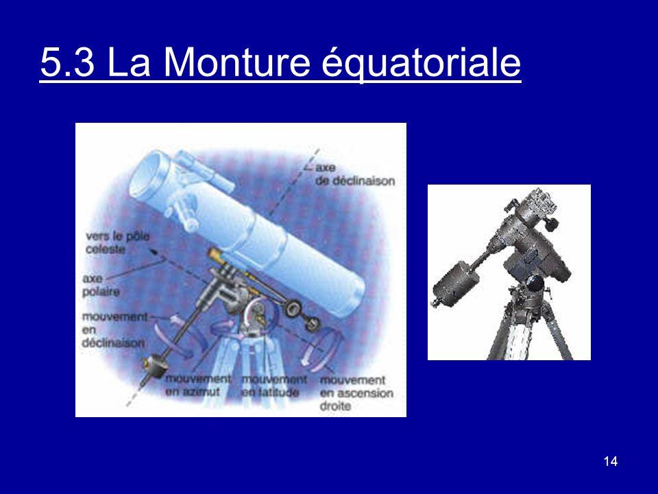 5.3 La Monture équatoriale