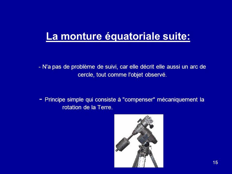La monture équatoriale suite:
