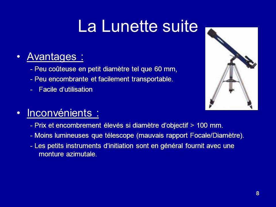 La Lunette suite Avantages : Inconvénients :