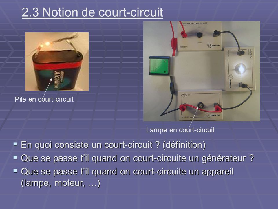 2.3 Notion de court-circuit