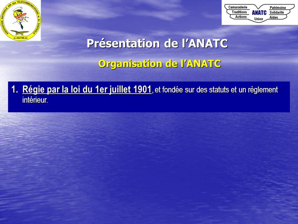 Présentation de l'ANATC Organisation de l'ANATC