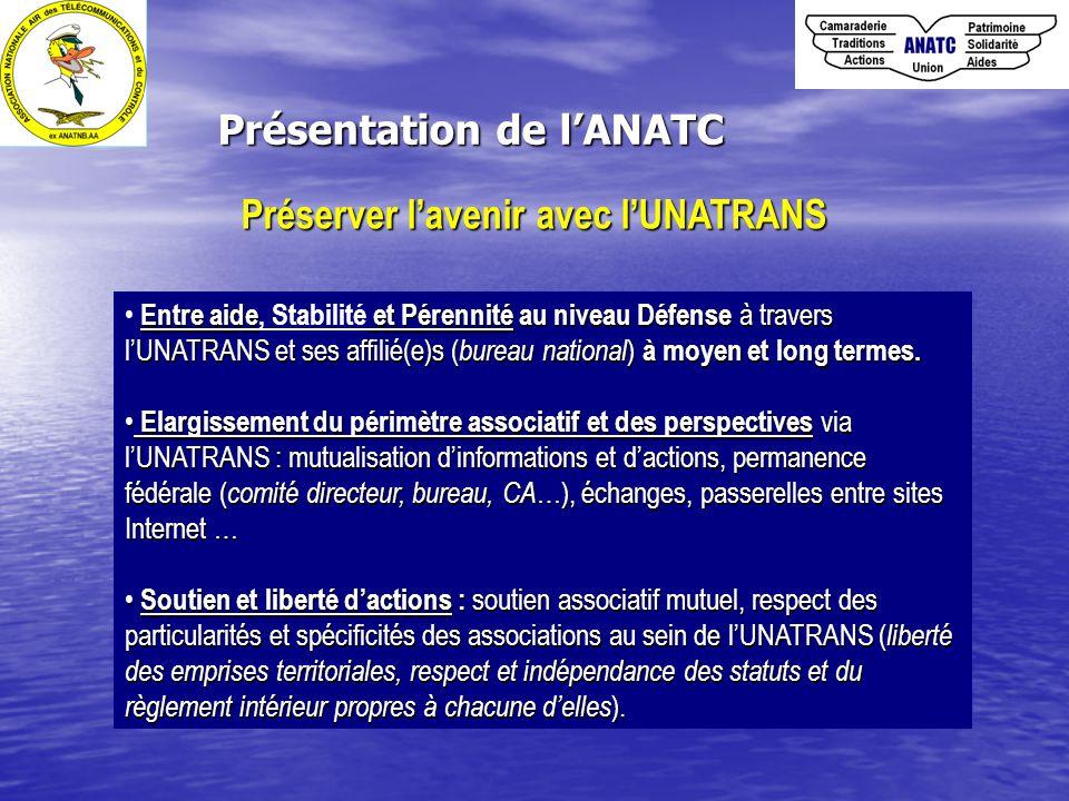 Présentation de l'ANATC Préserver l'avenir avec l'UNATRANS