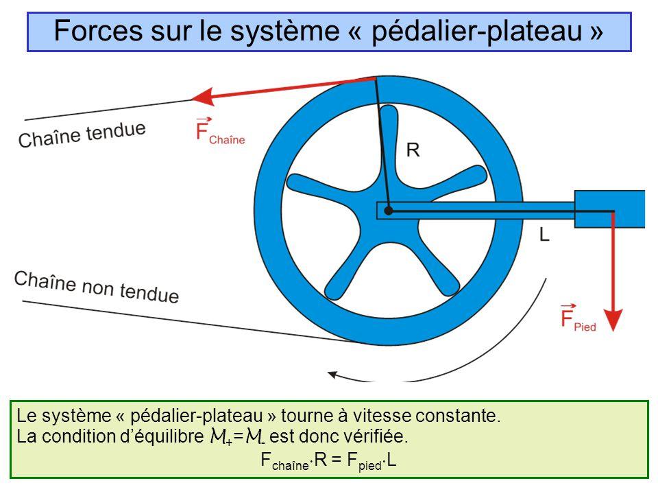 Forces sur le système « pédalier-plateau »