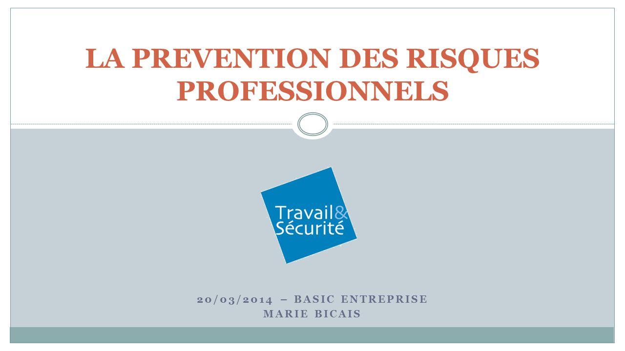 LA PREVENTION DES RISQUES PROFESSIONNELS