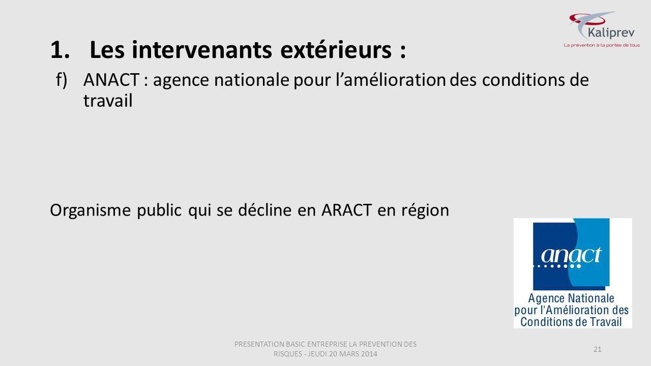 ANACT : agence nationale pour l'amélioration des conditions de travail