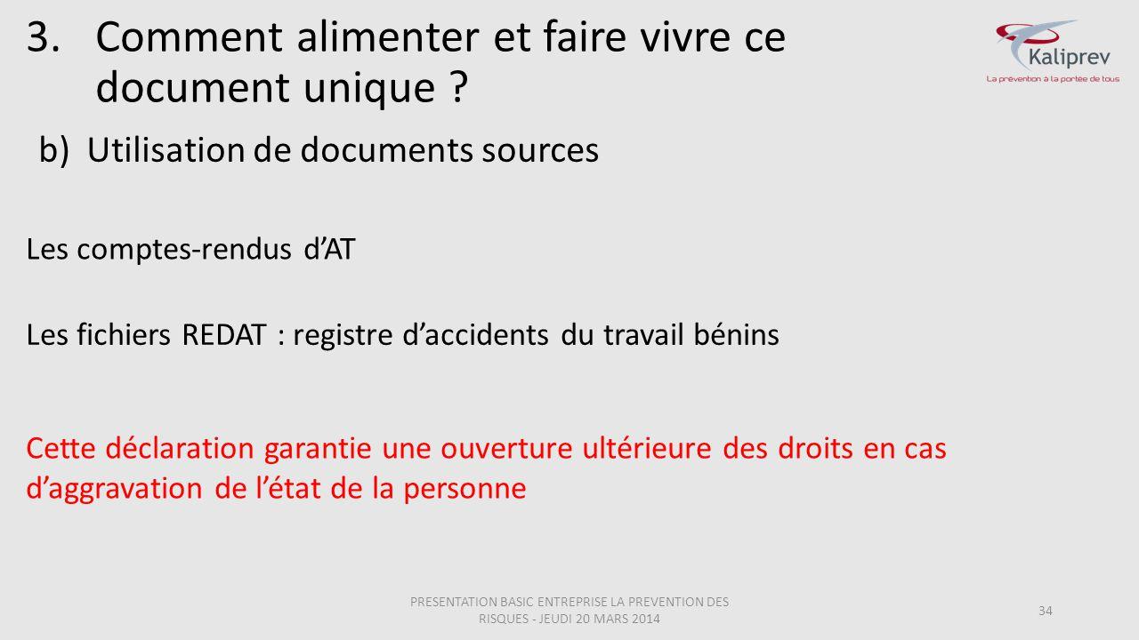 Utilisation de documents sources