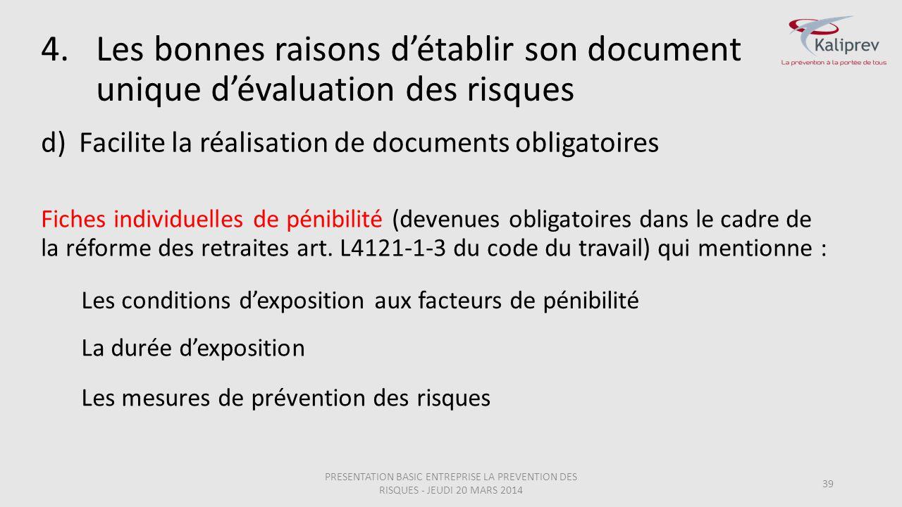 Facilite la réalisation de documents obligatoires