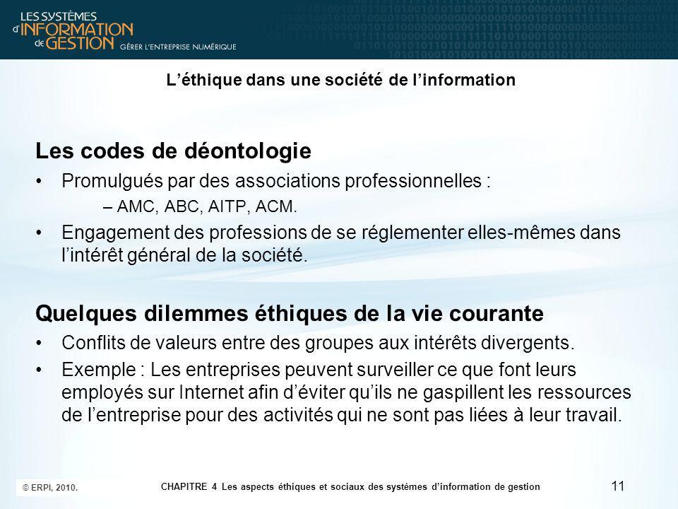 L'éthique dans une société de l'information