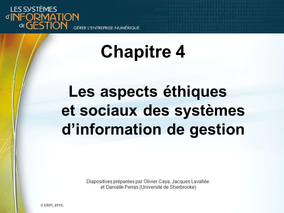 Les aspects éthiques et sociaux des systèmes d'information de gestion
