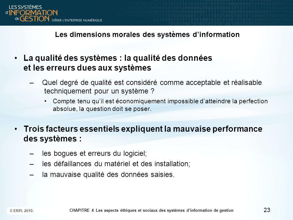 Les dimensions morales des systèmes d'information