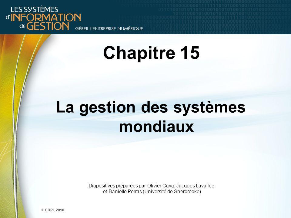 La gestion des systèmes mondiaux
