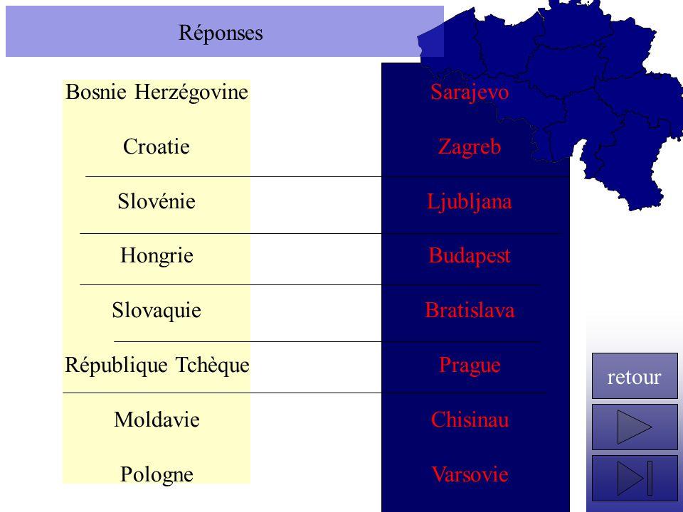 Réponses Bosnie Herzégovine. Croatie. Slovénie. Hongrie. Slovaquie. République Tchèque. Moldavie.