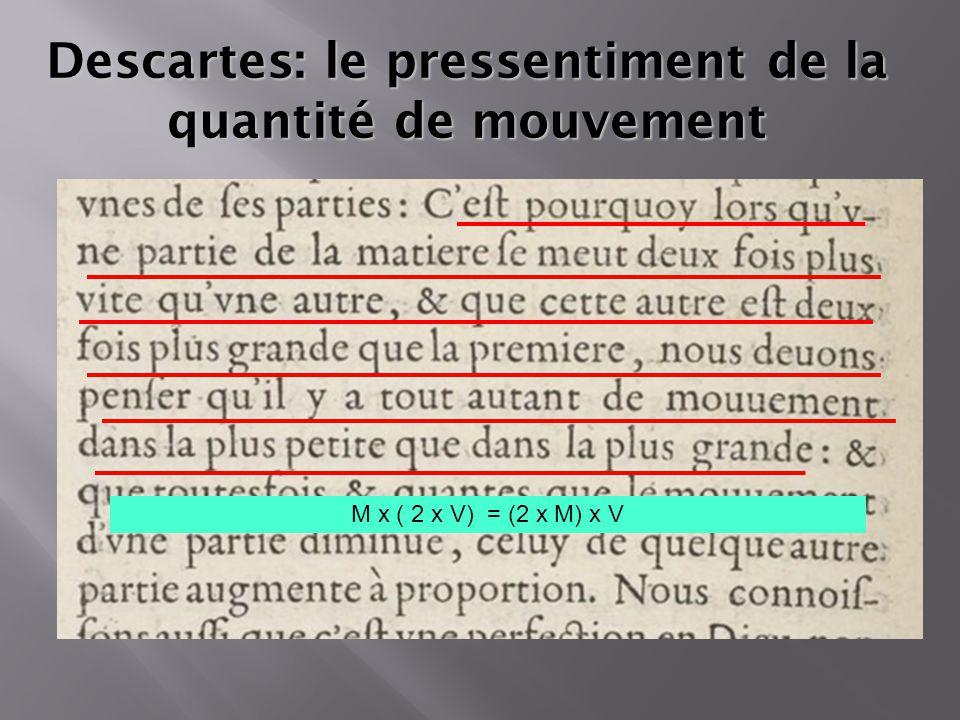 Descartes: le pressentiment de la quantité de mouvement