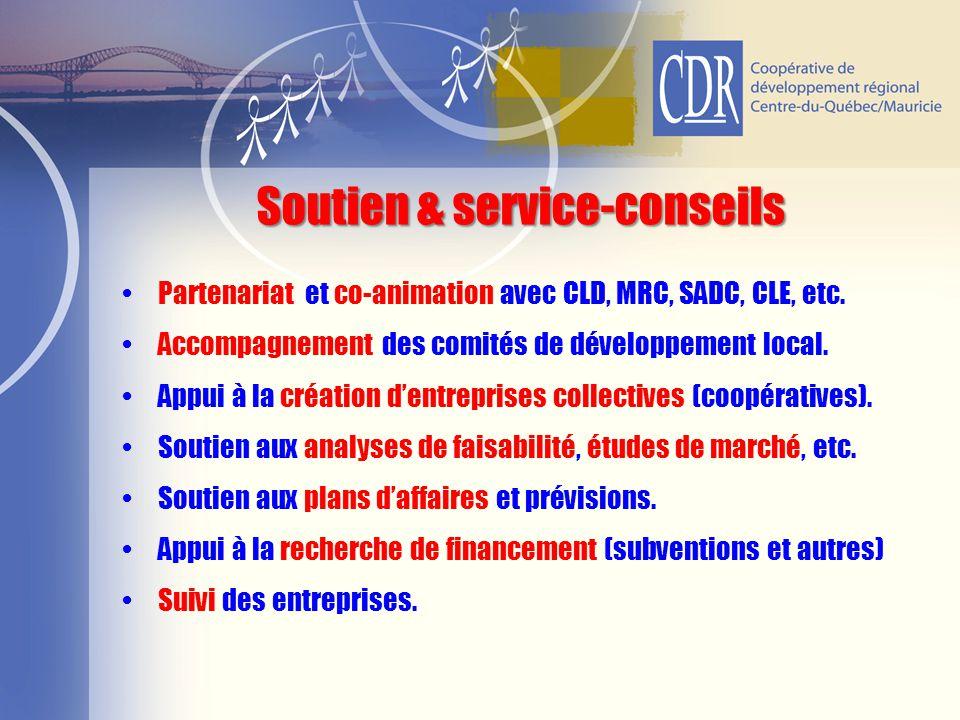 Soutien & service-conseils
