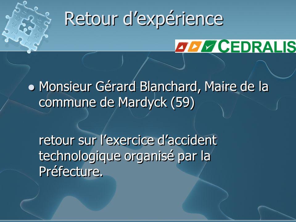 Retour d'expérience Monsieur Gérard Blanchard, Maire de la commune de Mardyck (59)