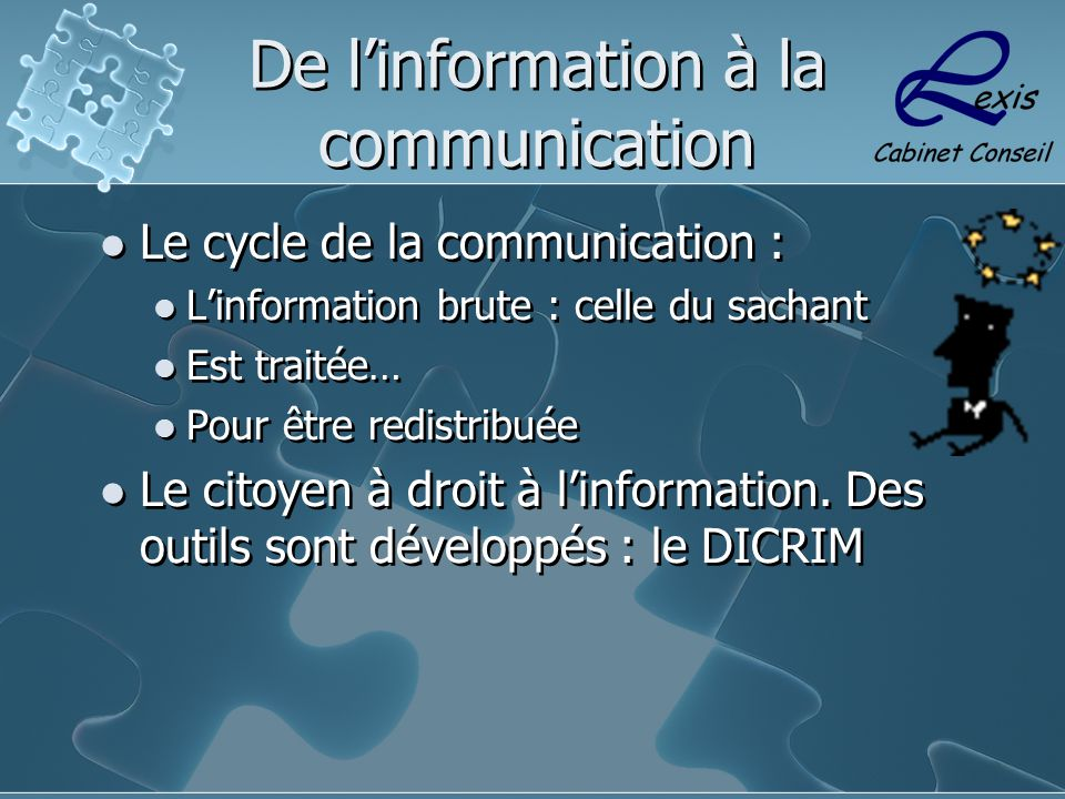 De l'information à la communication