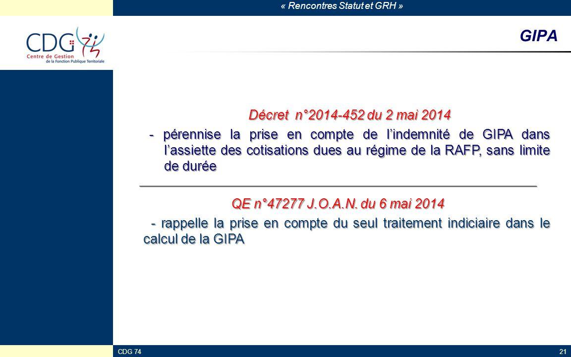 GIPA Décret n°2014-452 du 2 mai 2014.