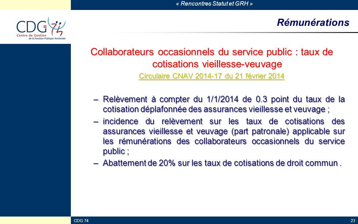 Circulaire CNAV 2014-17 du 21 février 2014