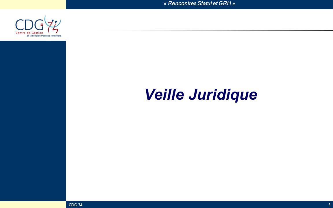 Veille Juridique CDG 74