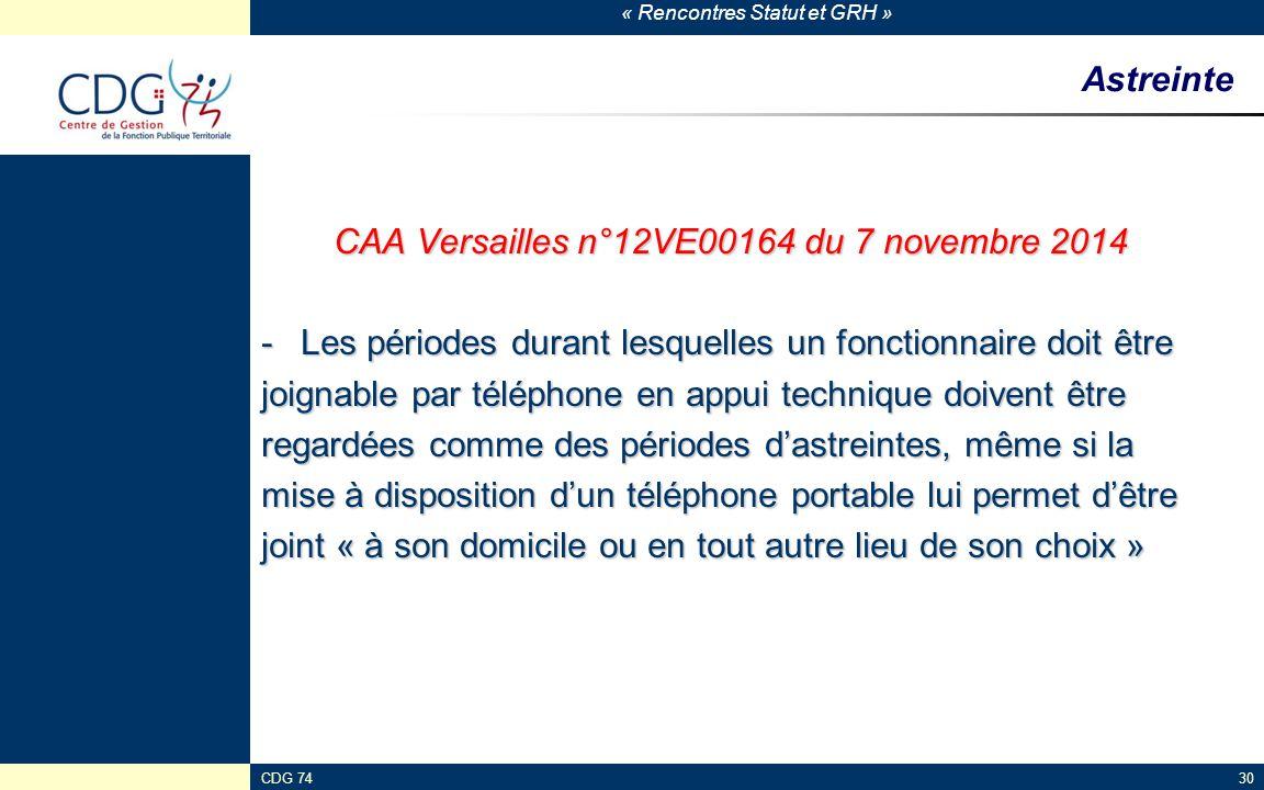 CAA Versailles n°12VE00164 du 7 novembre 2014