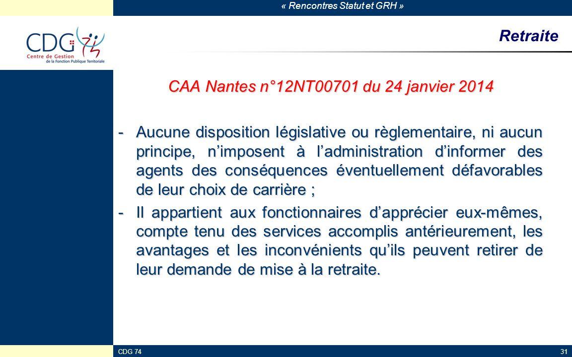 CAA Nantes n°12NT00701 du 24 janvier 2014