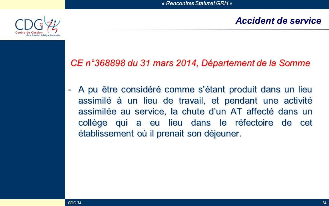 CE n°368898 du 31 mars 2014, Département de la Somme