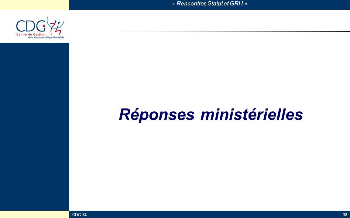 Réponses ministérielles