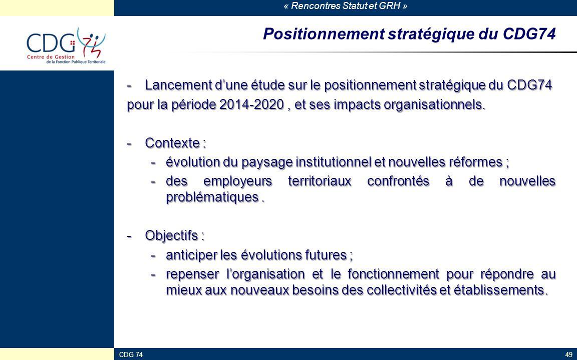 Positionnement stratégique du CDG74