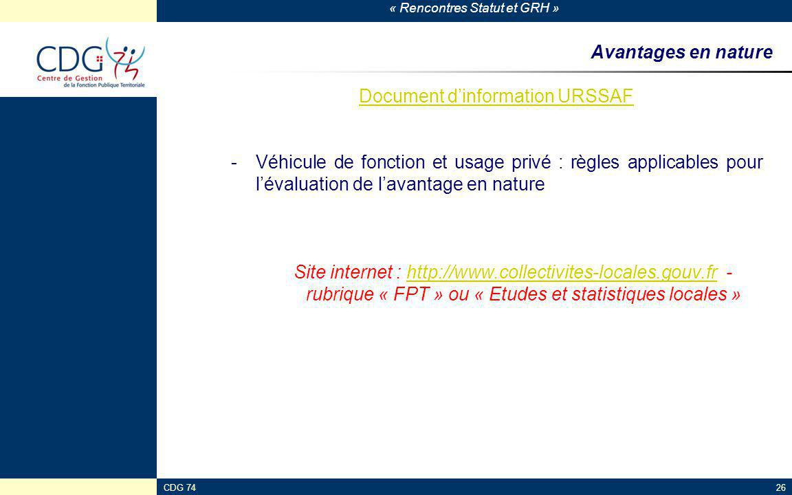 Document d'information URSSAF