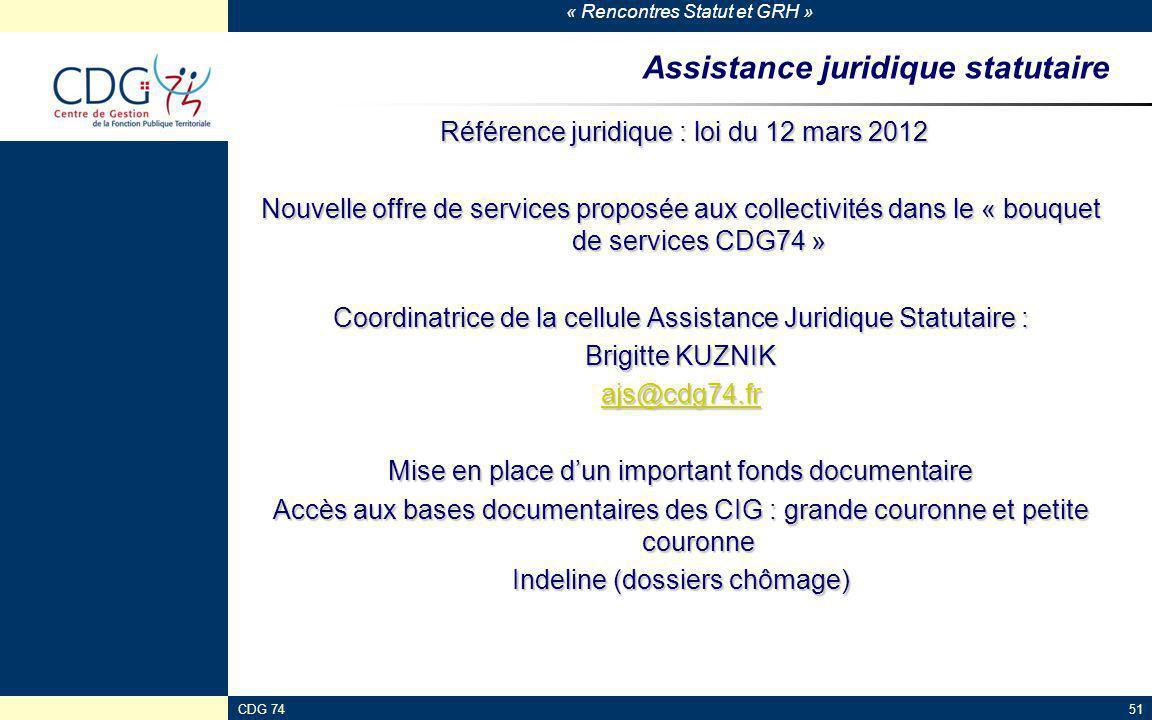 Assistance juridique statutaire