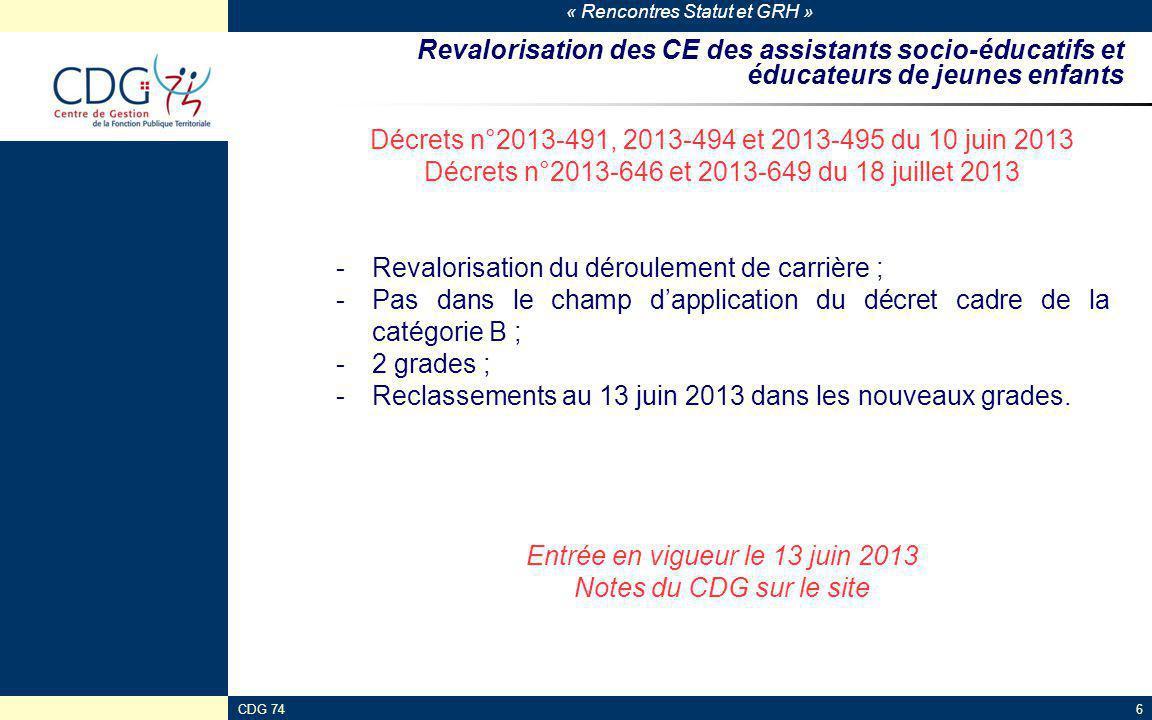 Décrets n°2013-491, 2013-494 et 2013-495 du 10 juin 2013