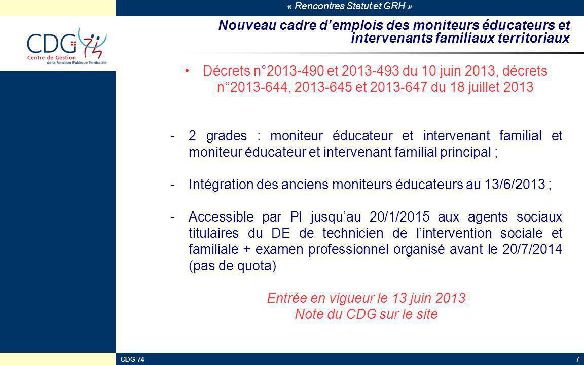 Entrée en vigueur le 13 juin 2013