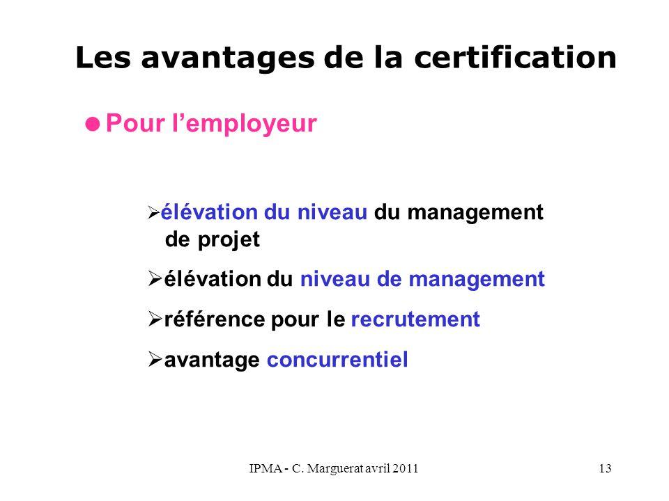 Les avantages de la certification