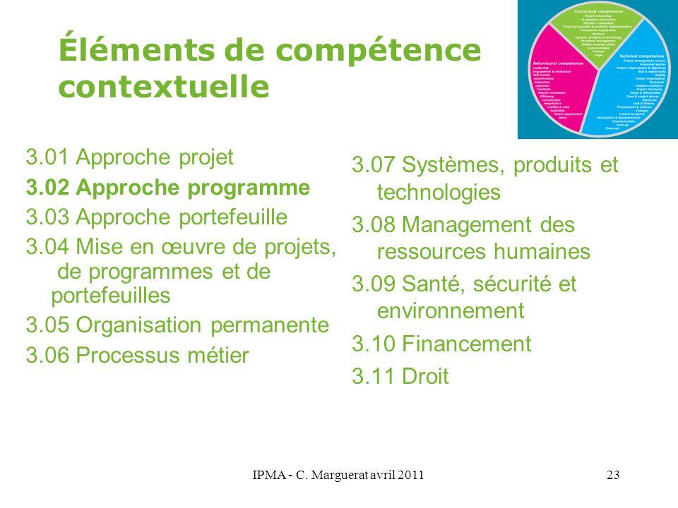 Éléments de compétence contextuelle