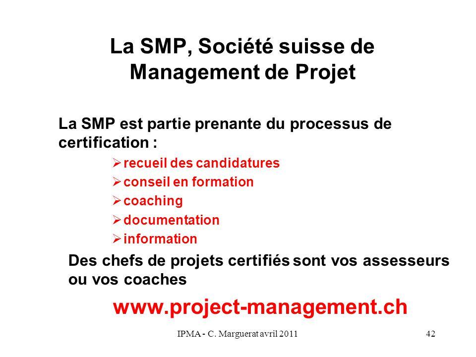 La SMP, Société suisse de Management de Projet