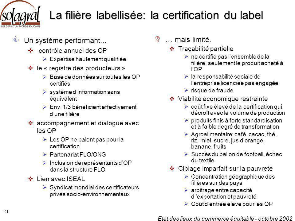 La filière labellisée: la certification du label