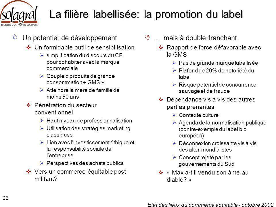 La filière labellisée: la promotion du label