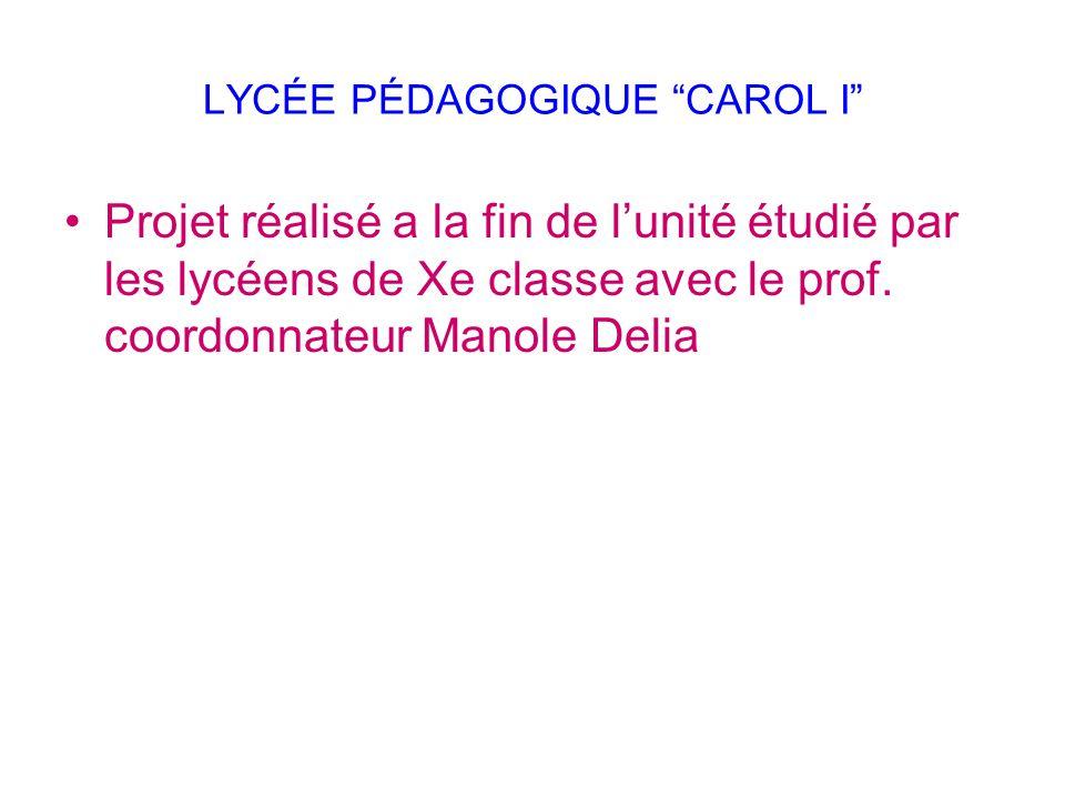 LYCÉE PÉDAGOGIQUE CAROL I