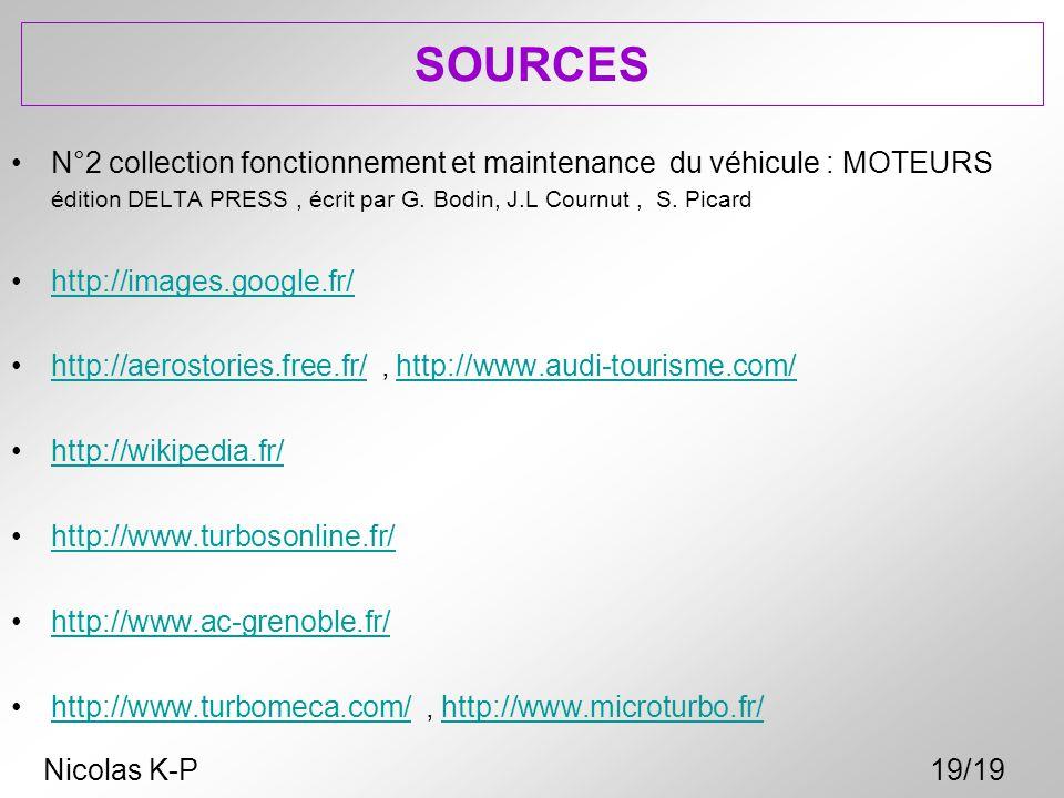 SOURCES N°2 collection fonctionnement et maintenance du véhicule : MOTEURS édition DELTA PRESS , écrit par G. Bodin, J.L Cournut , S. Picard.