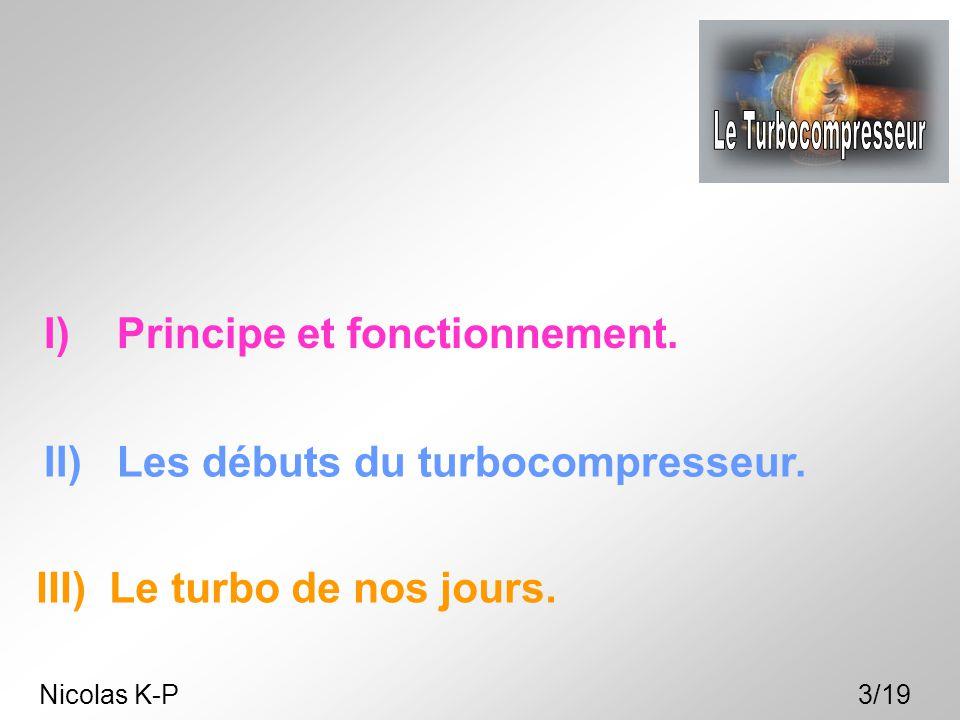 Le Turbocompresseur I) Principe et fonctionnement.