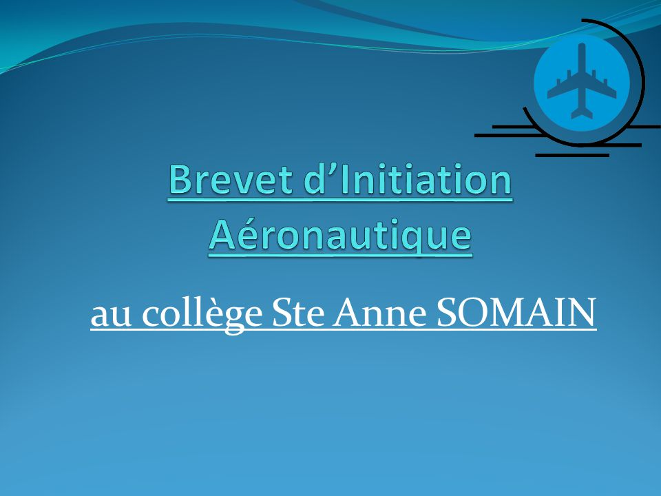 Brevet d'Initiation Aéronautique