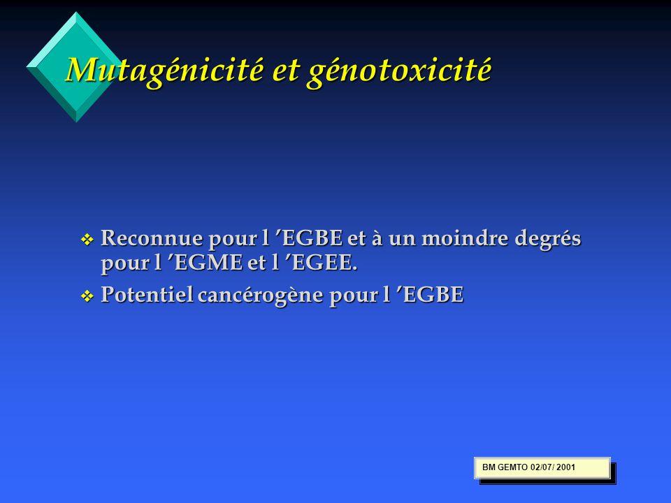 Mutagénicité et génotoxicité