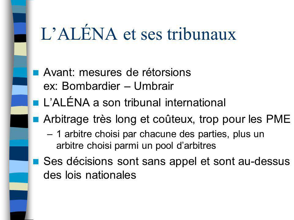 L'ALÉNA et ses tribunaux