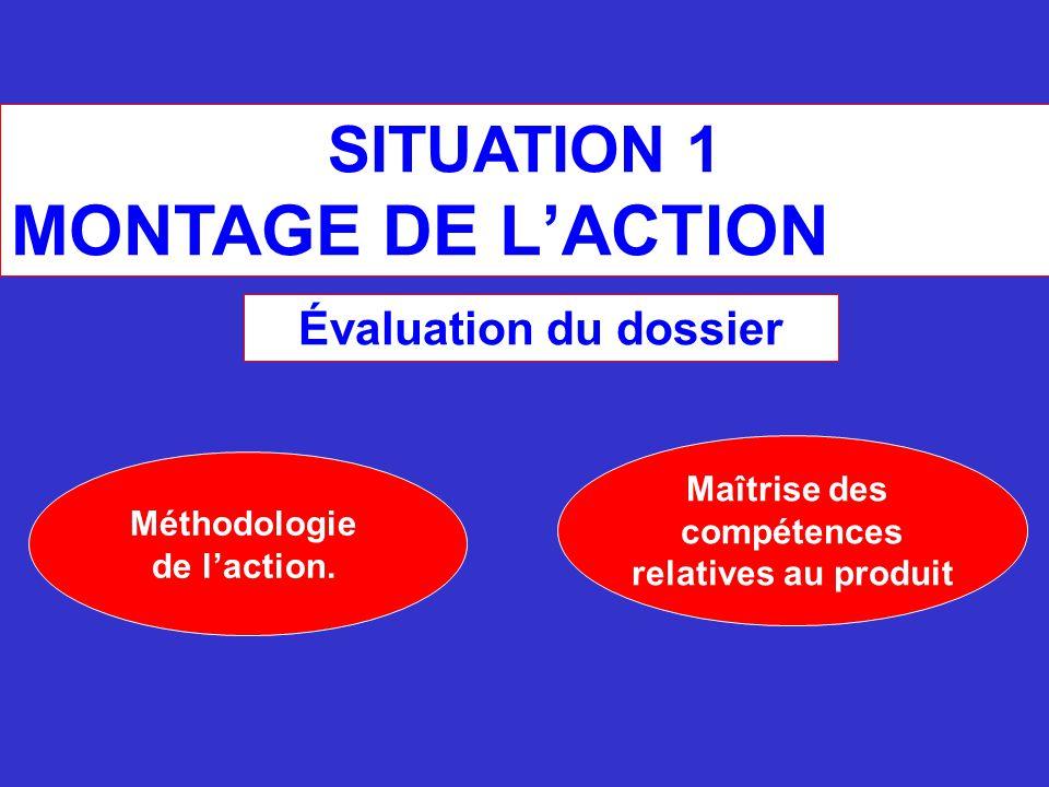 MONTAGE DE L'ACTION SITUATION 1 Évaluation du dossier Maîtrise des