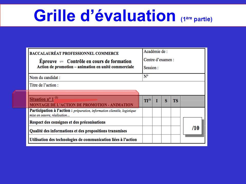 Grille d'évaluation (1ère partie)