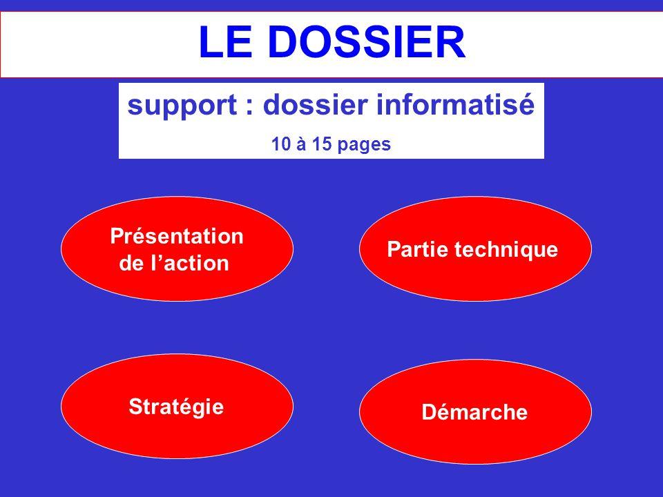 support : dossier informatisé