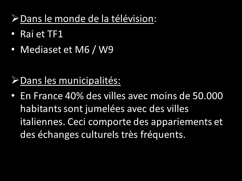 Dans le monde de la télévision: