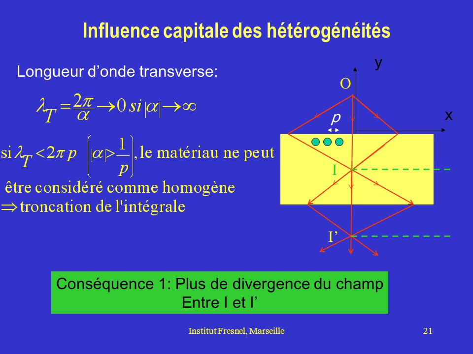 Influence capitale des hétérogénéités