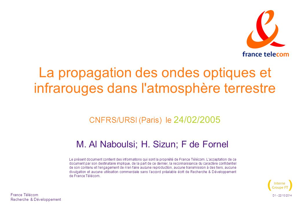 M. Al Naboulsi; H. Sizun; F de Fornel